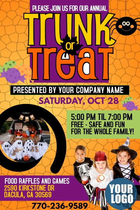 TRUNK OR TREAT Cartaz template