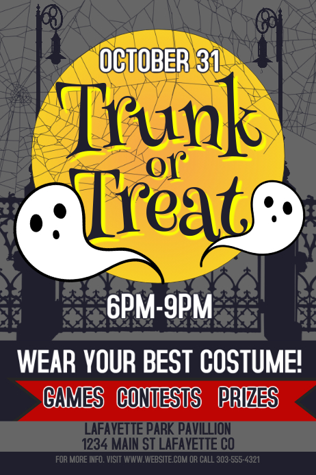 Trunk or Treat Plakat template
