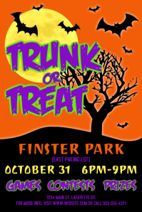 390 customizable design templates for trunk or treat postermywall
