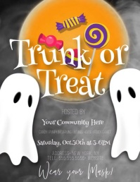 Trunk or Treat Halloween Video Flyer (US Letter) template