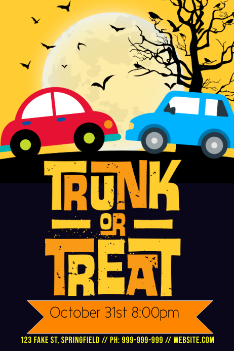 Trunk or Treat Poster