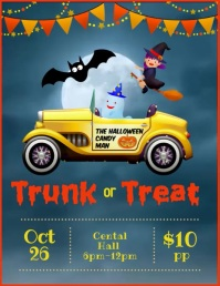 Trunk or treat video ad Flyer (US Letter) template