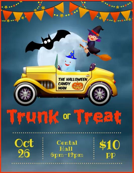 Trunk or treat video ad Volante (Carta US) template
