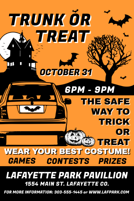 trunk ot treat template postermywall