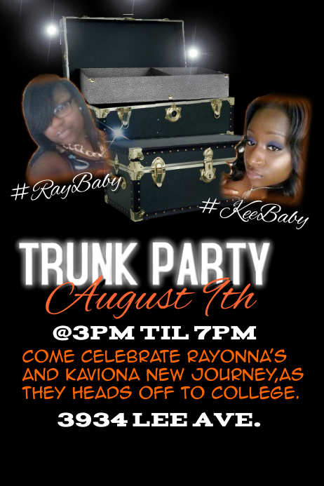 TRUNK PARTY Template