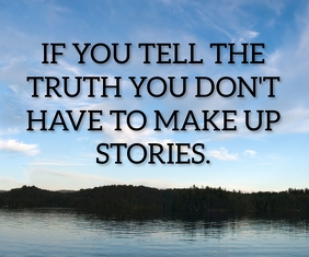 TRUTH AND STORIES QUOTE TEMPLATE Mittelgroßes Rechteck