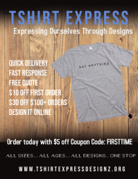 Tshirt AD Flyer (US Letter) template