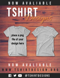Tshirt Designs Pamflet (Letter AS) template