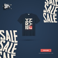 TShirt Sale Ad Instagram na Post template