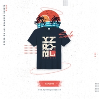 TShirt Sale Ad Album Cover template