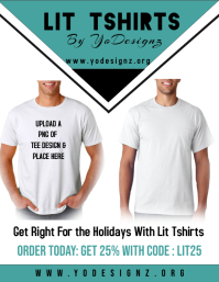 Tshirt Sale Pamflet (Letter AS) template