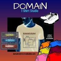 Tshirts, print on demand, online shopping Instagram na Post template