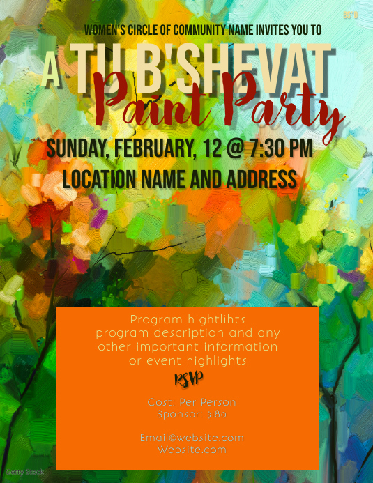 Tu B'Shevat Paint Party