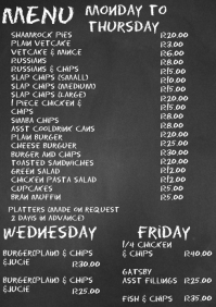 tuck shop menu