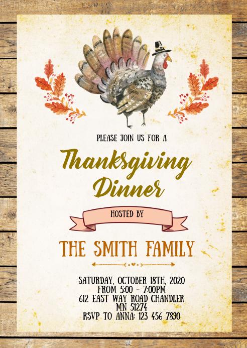 Tucker Thanksgiving Dinner invitation