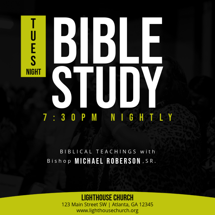 tues night bible study template
