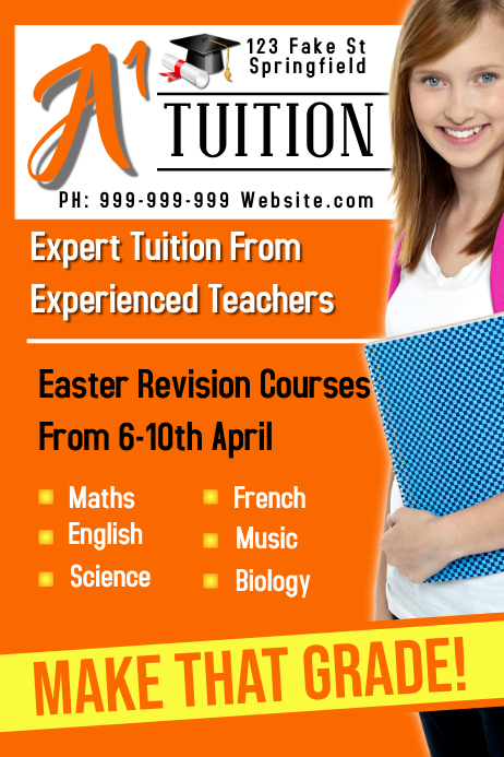 Tuition Poster