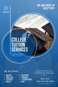 Tuition Service Poster Design template