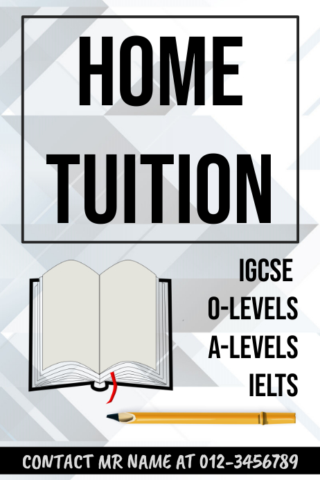 Tuition Template for Tutors