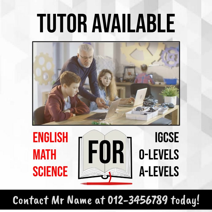 Tuition Video Template for Tutors