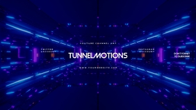 Tunnel Gamer Youtube Channel Art Banner template