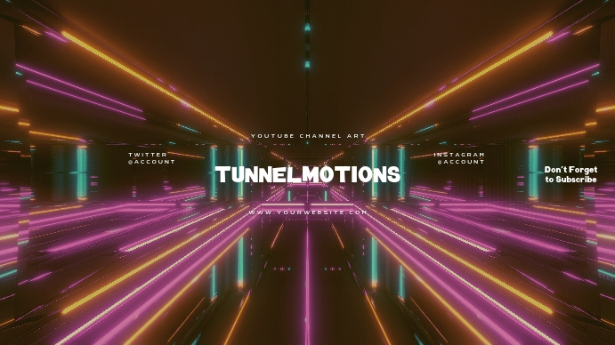 Tunnel Gamer Youtube Channel Art Banner