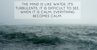 TURBULENT AND CALM QUOTE TEMPLATE Iklan Facebook