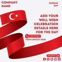 turkey independence day Instagram Post template