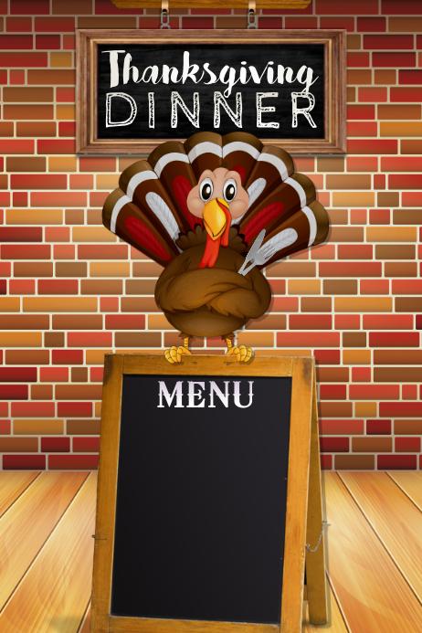 Turkey Menu Retail Restaurant Dinner Buffet Food Harvest