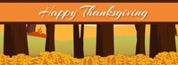 Turkey Thanksgiving Fall Leaves Facebook Vide template
