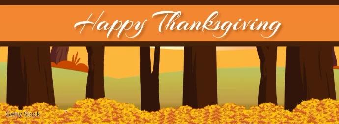 Turkey Thanksgiving Fall Leaves Facebook Vide template