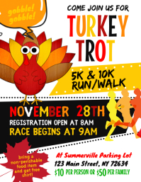 Turkey Trot Flyer template