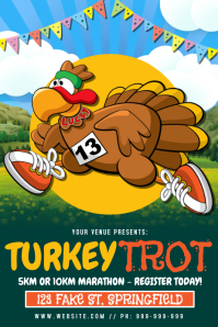 Turkey Trot Poster template