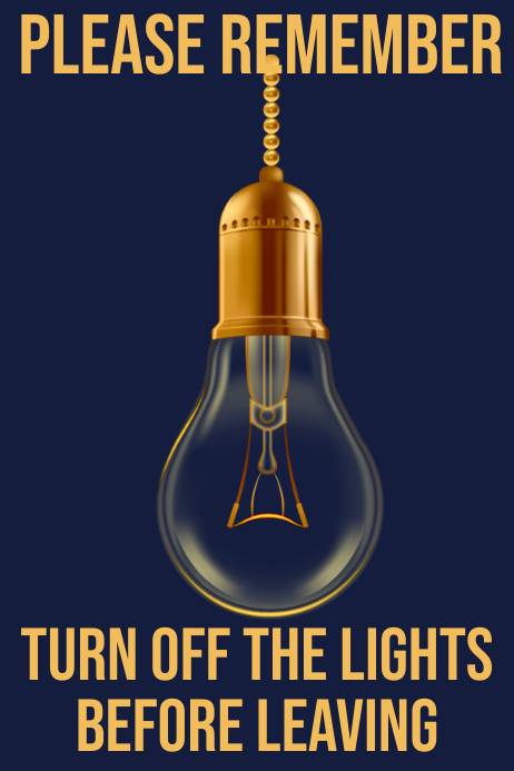 Turn Off Lights Poster Template