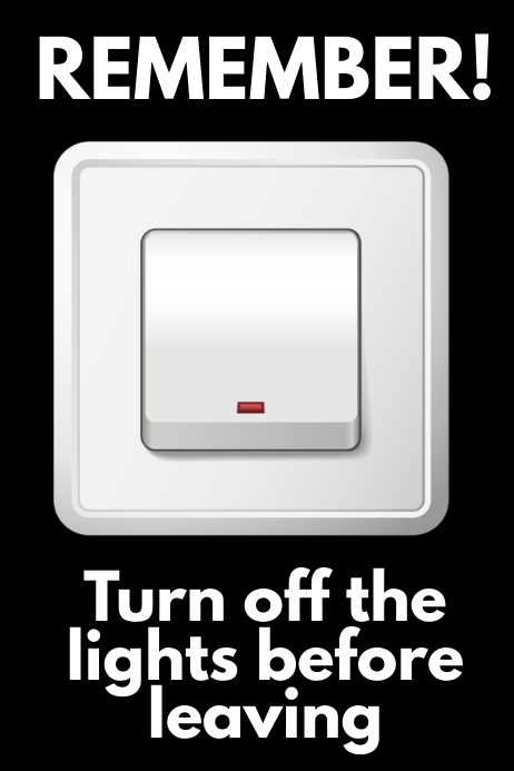 Turn Off The Lights Poster Template