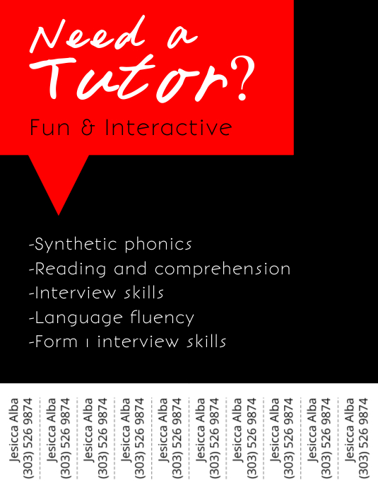 Tutor Service Flyer Template Postermywall