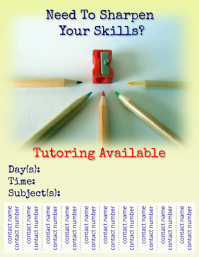 Tutoring Flyer  Flyer Samples Templates