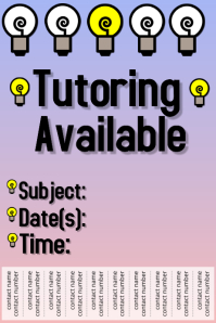 Tutoring Poster template