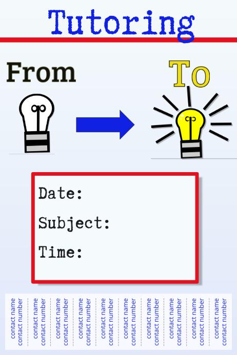 tutoring template