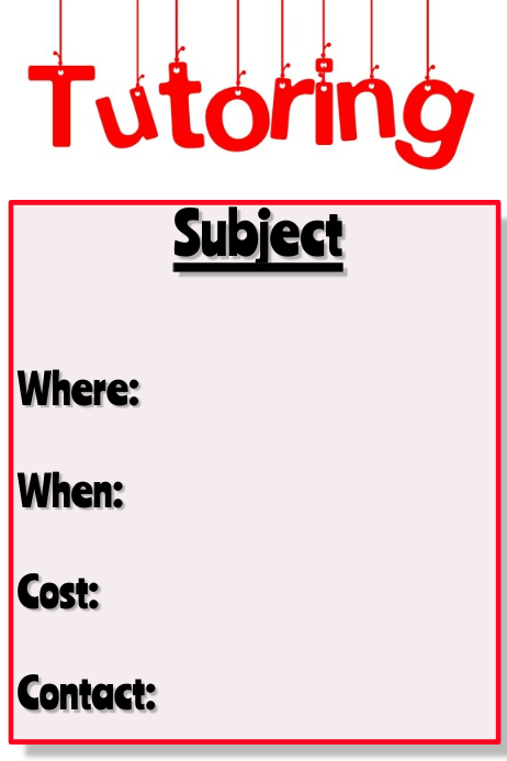 tutoring template postermywall