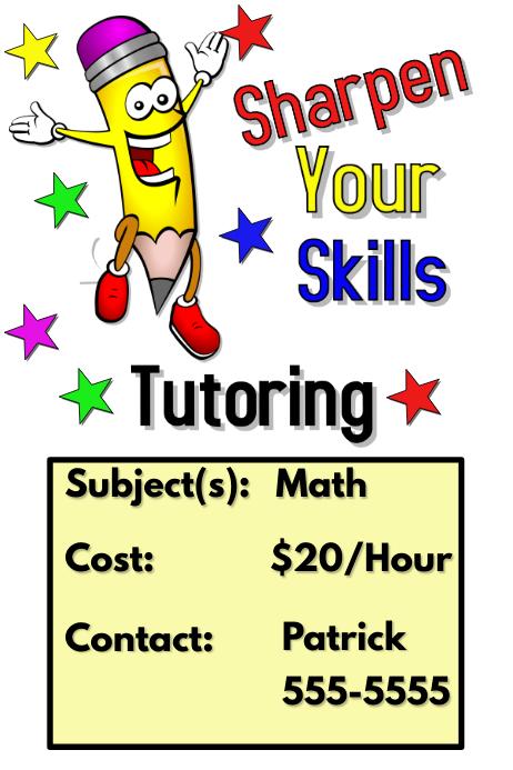 tutoring flyer tutoring flyer template postermywall