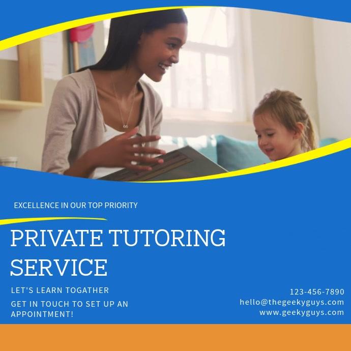 Tutoring service Facebook video Template