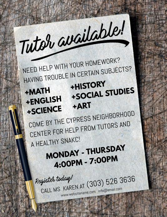 tutor flyer templates