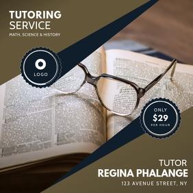 tutoring service instagram post template