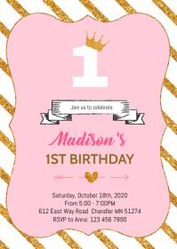 Tutu princess 1st birthday pink party