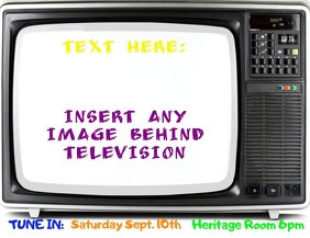TV Promotional AD Flyer (Letter pang-US) template