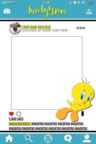 Tweety Bird Party Prop Frame