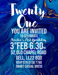 Twenty One birthday invite