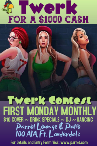 Twerk Contest Advertisement