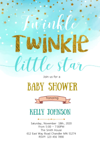 Twinkle baby shower invitation
